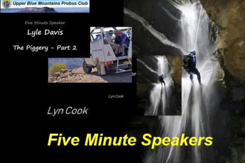 Videos of 5 Minute Speakers
